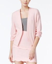 Amy Byer Bcx Juniors' Ruched Sleeve Blazer Rose