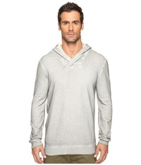John Varvatos Long Sleeve Reverse Pullover Knit Hoodie With Cross Over Neckline K2891s4b Reflection Grey Men's Sweatshirt Gray