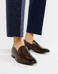 Base London Tenor Penny Loafers In Brown
