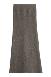 Rick Owens Maxi Skirt With Virgin Wool Grey