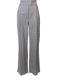 Barbara Casasola High Rise Tailored Trousers Grey