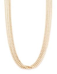 Design Lab Lord And Taylor Four Row Ball Chain Necklace Gold