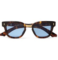 Jacques Marie Mage Jules Square Frame Tortoiseshell Acetate And Gold Tone Sunglasses Brown