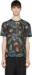 Phenomenon Black Aloha Print T Shirt