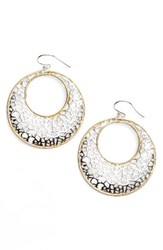 Argentovivo Women's Argento Vivo Two Tone Circle Lace Earrings