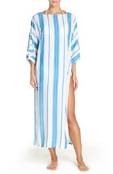 Vince Camuto Women's Cover Up Maxi Dress Misty Blue