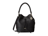 Dkny Tribeca Soft Tumbled Bucket W Drawstring And Det Shoulder Strap Black Drawstring Handbags