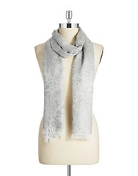 Lord And Taylor Paisley Scarf Silver