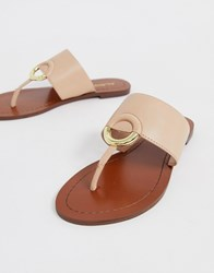 b35ee9537c0a8 Aldo Ocericia Leather Ring Post Sandals In Beige Pink