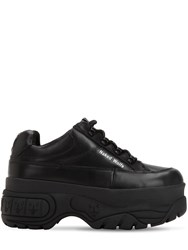 Naked Wolfe Sporty Leather Platform Sneakers Black