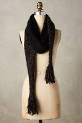 Anthropologie Tinselknit Scarf Black