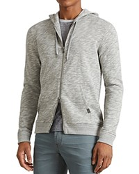 John Varvatos Star Usa Space Dye Zip Hoodie Sweatshirt Heather Gray
