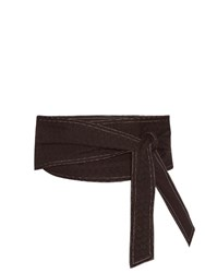 Cecilie Copenhagen Sophia Wrap Waist Cotton Belt Black