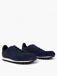 Spalwart Midnight Blue Suede Marathon Trail Sneakers Navy