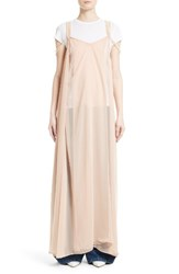Y Project Women's Mother Of Pearl Embellished Slipdress