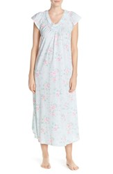 Women's Carole Hochman Designs Floral Cotton Long Nightgown