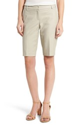 Halogenr Women's Halogen Stretch Bermuda Shorts Tan Oxford