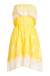 Christophe Sauvat Embroidered Cotton Dress With Lace