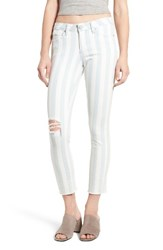 Articles Of Society Women's Carly Stripe Crop Jeans