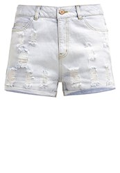 Noisy May Nmharper Denim Shorts Light Blue Denim