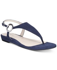 Alfani Women's Honnee Flat Sandals Only At Macy's Women's Shoes New Navy