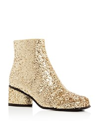 Marc Jacobs Camilla Glitter Ankle Booties Gold