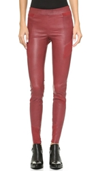 Elevenparis Fritz Stretch Leather And Suede Pants Vampire