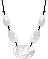 Inc International Concepts Metal Statement Necklace Silver