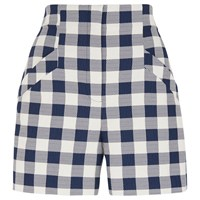 Whistles Gita Check Shorts Blue White