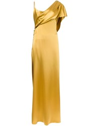 Cushnie Et Ochs One Shoulder Gown Yellow And Orange
