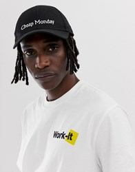 Cheap Monday Cap With Logo In Black