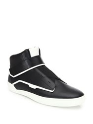 Bally Colorblock Leather Sneakers Black