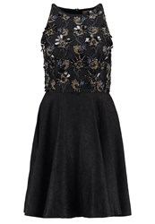 Lace And Beads Bubble Cocktail Dress Party Dress Black