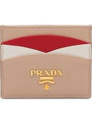 Prada Saffiano Leather Credit Card Holder Pink