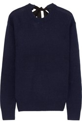 Joseph Tie Back Cashmere Sweater Navy