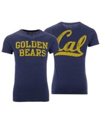 Retro Brand California Golden Bears Team Stacked Dual Blend T Shirt Navy