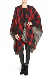 Women's Modena 'Double Plaid' Reversible Cape