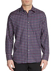 Bugatchi Classic Fit Checkered Sportshirt Black
