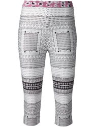 Jonathan Cohen Printed Cropped Leggings White