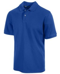 Club Room Short Sleeve Solid Estate Performance Sun Protection Polo Lazulite