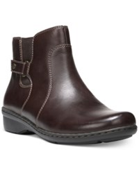 Naturalizer Rylen Leather Booties Women's Shoes Oxford Brown
