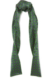 Gucci Printed Silk Scarf Green