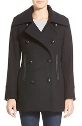 Women's Pendleton 'Cascades' Double Breasted Wool Blend Peacoat