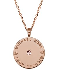 Logo Disc Necklace Rose Golden Michael Kors