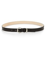 Streets Ahead Leather Round Buckle Belt Black