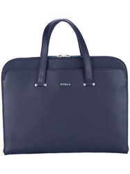 Furla Laptop Bag Men Calf Leather One Size Blue