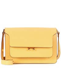 Marni Trunk Leather Shoulder Bag Yellow