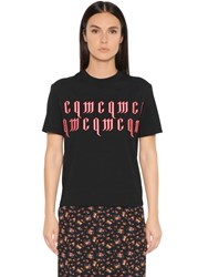 Mcq By Alexander Mcqueen Embroidered Cotton T Shirt