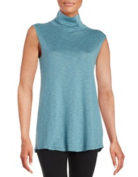 Nic Zoe Everyday Turtleneck Top Blue