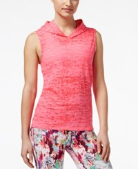 Material Girl Active Juniors' Sheer Sleeveless Hoodie Only At Macy's Flashmode